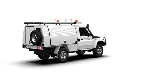 Toyota Landcruiser Single Cab Full Canopy