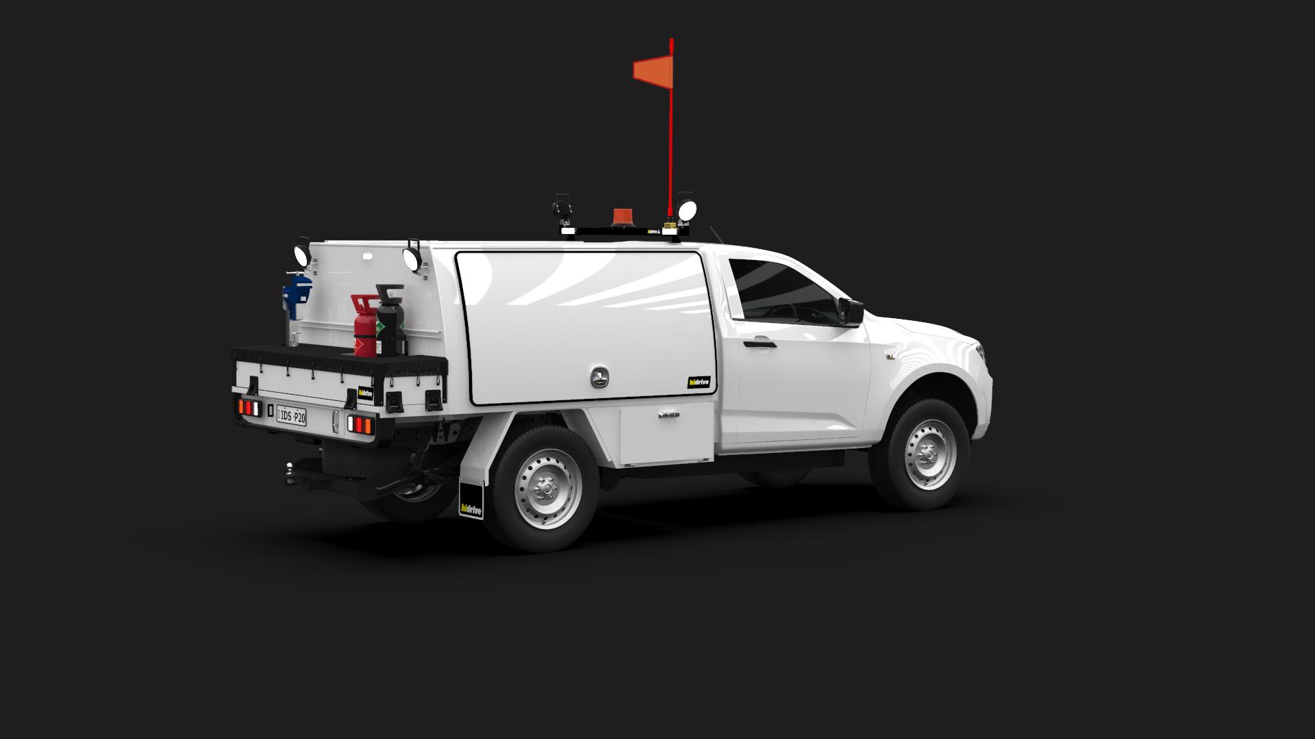 Isuzu D-Max Single Cab Part Canopy