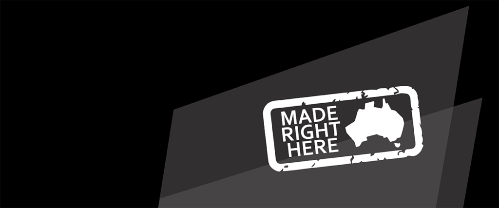 Made Right Here Logo that represents our products that are Australian Made